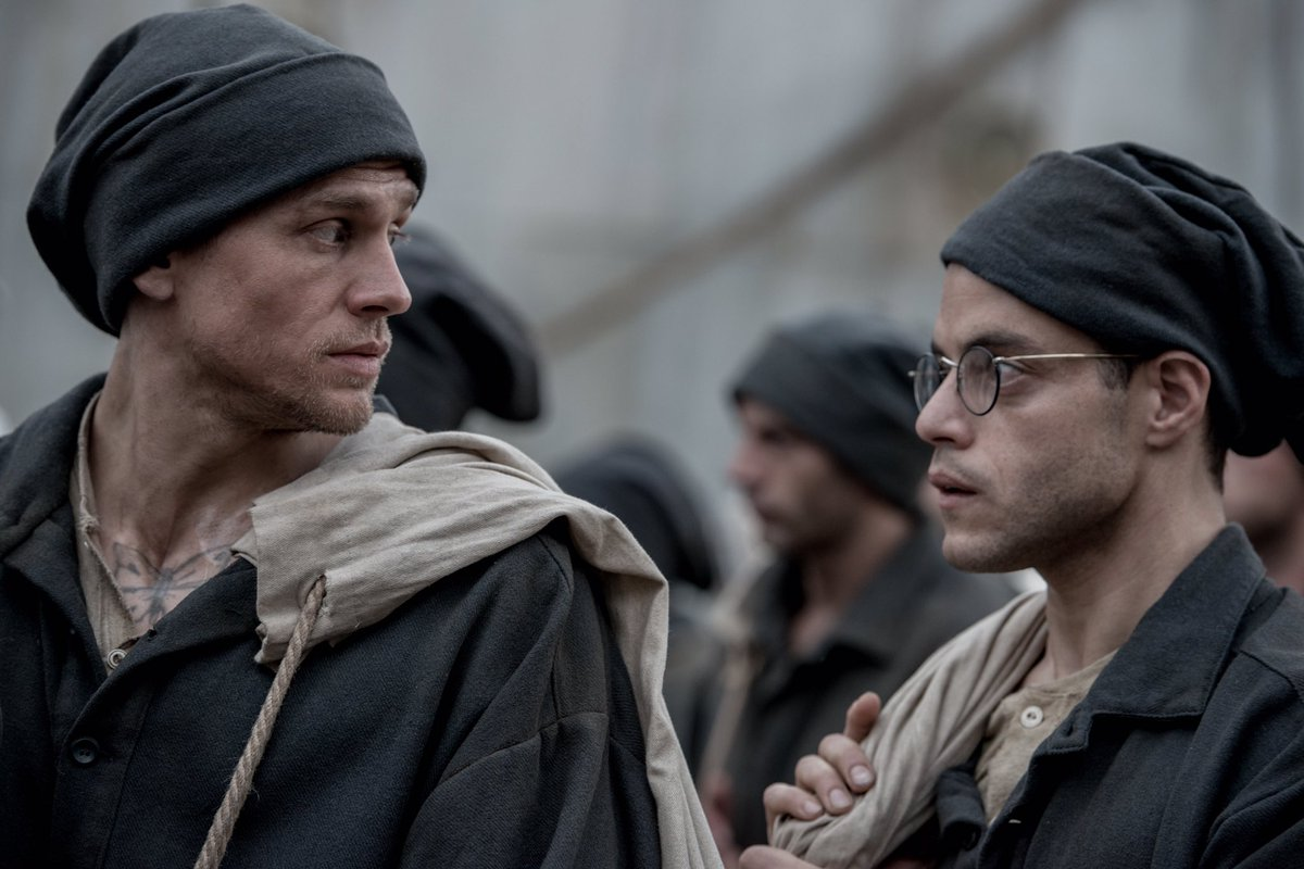 First look @papillonmovie starring Charlie Hunnam and Rami Malek directed by Michael Noer https://t.co/vynFYlIpDh