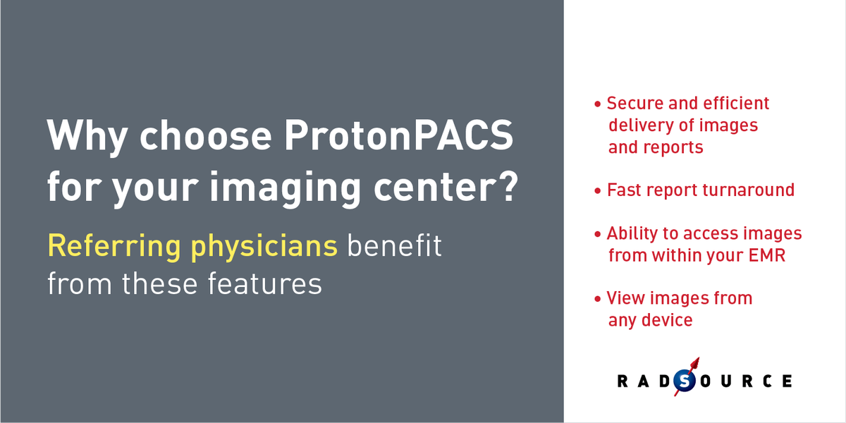 Did you know ProtonPACS offers all these benefits to referring physicians? #PACS #Medicalimaging  http:// bit.ly/2i1Zow0  &nbsp;  <br>http://pic.twitter.com/xpmHKxeYFl