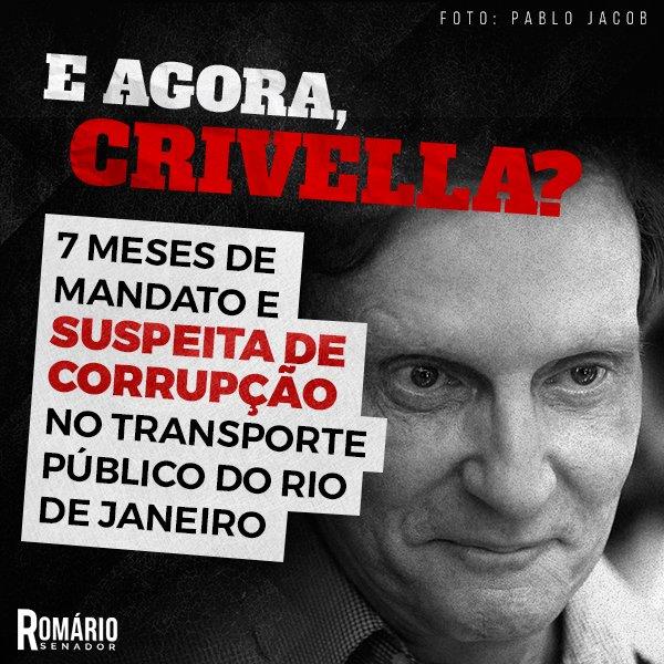 Como se não bastassem todas as trapalhadas, será que Marcelo Crivella também está metido com toda essa corrupção? https://t.co/ShDADcYcfT