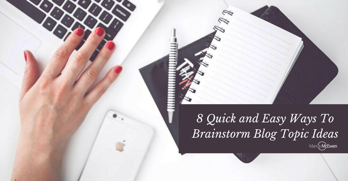 8 Quick and Easy Ways To Brainstorm #Blog Topic Ideas https://t.co/ZJDkxWQqkg via @ModGirlMktg @MandyModGirl #bloggingtips #Modgirltips