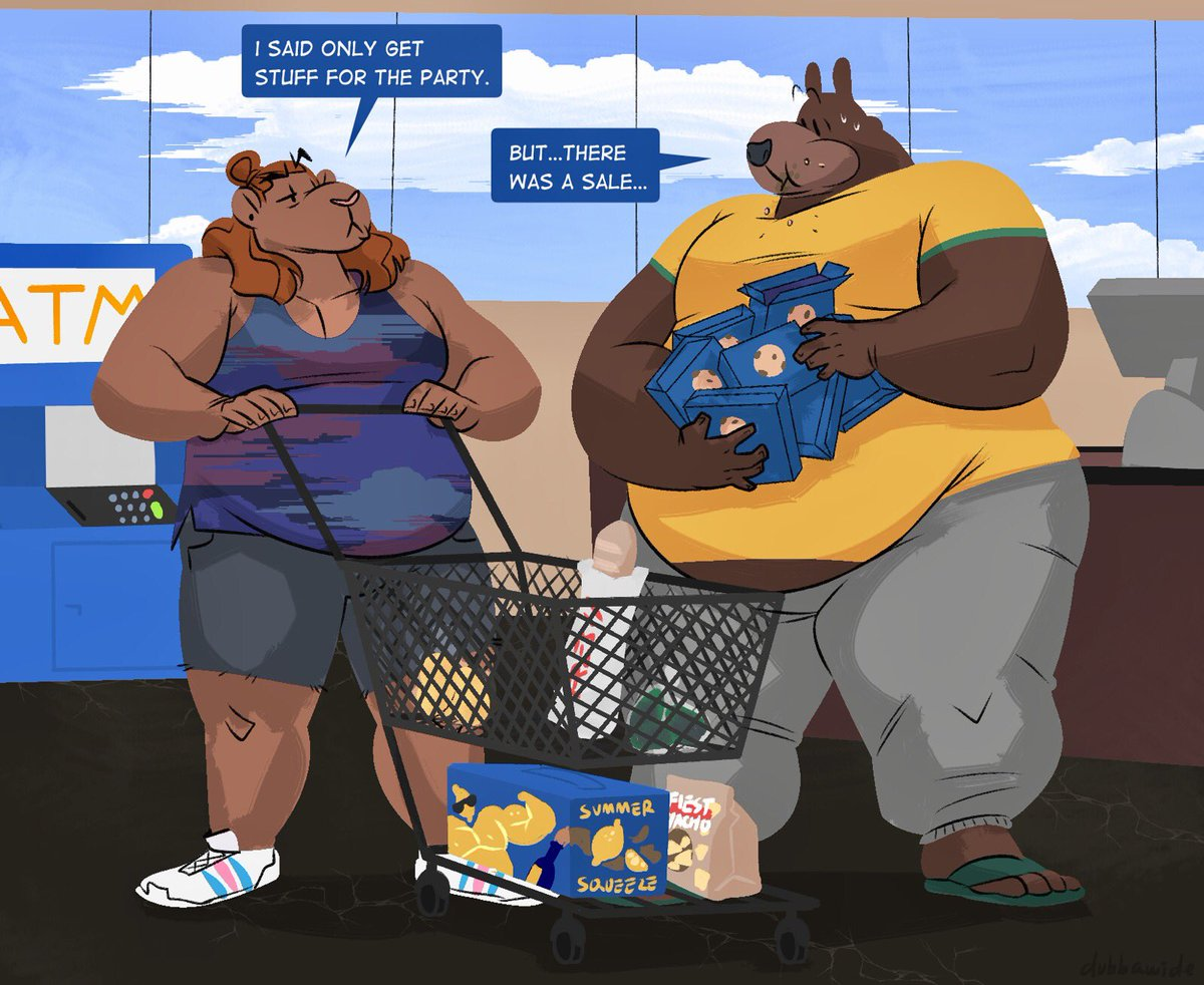 BUMP and GRIND - Gay Male Furry Art Folio by Gideon.