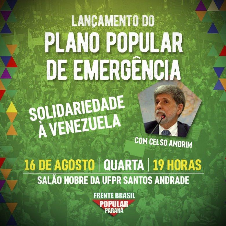 Curitiba: Amanhã tem Lançamento do Plano Popular de Emergência, a partir das 19h! Saiba mais em https://t.co/yneSFY9rBW