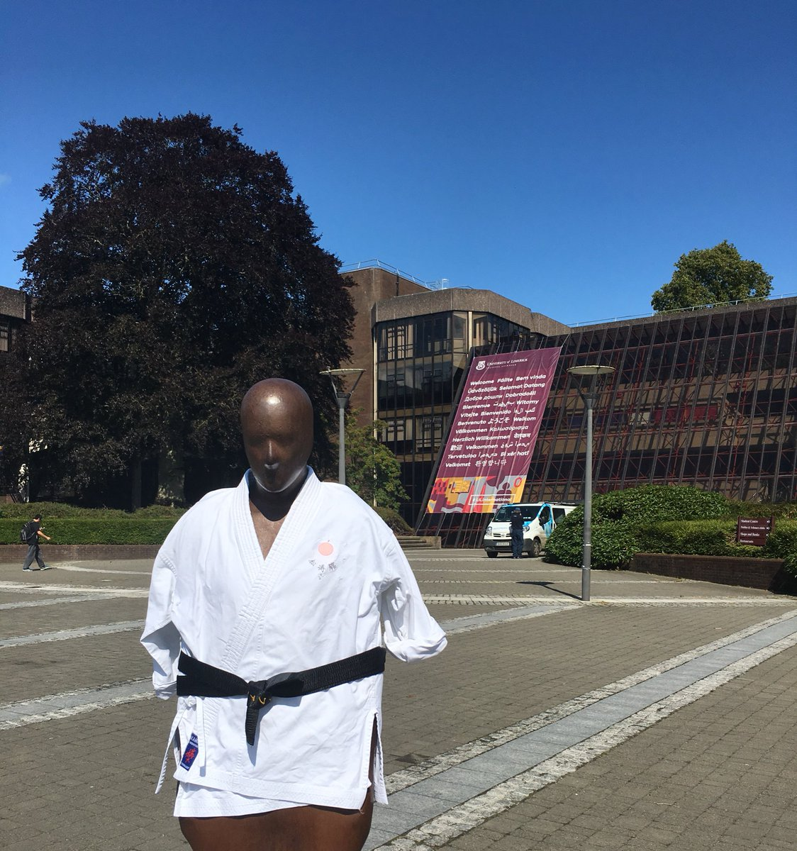 Brown thomas is all ready for the 14th World Karate-do Championships which are being held in @ULimsport Arena this week. #ThinkBigAtUL <br>http://pic.twitter.com/uMYB0P7Msz