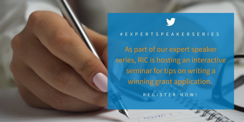 Join @RICCentre and @Funding_Portal for our #interactive seminar on how to write a winning grant application.  http:// ow.ly/jMCZ30ehtEZ  &nbsp;  <br>http://pic.twitter.com/quN5Q1pI66