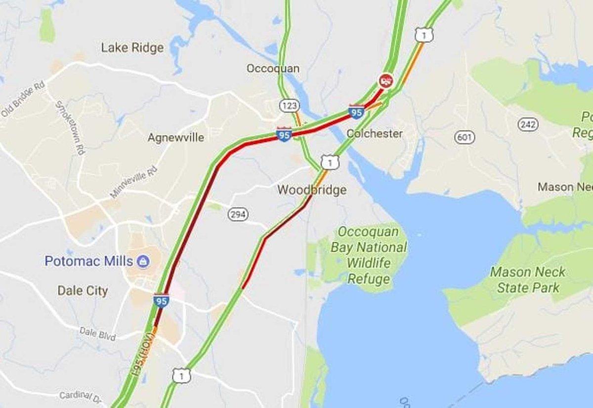 Crash causes 5-mile backup on northbound I-95 in Fairfax County https://t.co/zNYjye3NDC #DMV