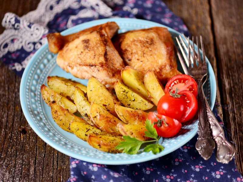картошка с луком в духовке фото рецепт