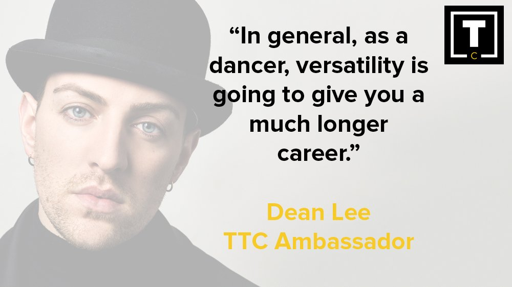 Being versatile is an important part of being a #dancer and as @DeanAnthLee says, it will give you longevity in your #dance career!<br>http://pic.twitter.com/BYMW78Wiso