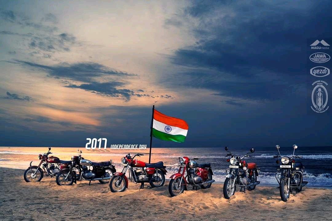 The Czechs celebrate the Indian Independence Day #IndependenceDayIndia #Yezdi #Jawa #YJOCI<br>http://pic.twitter.com/K6xKEZPUP9