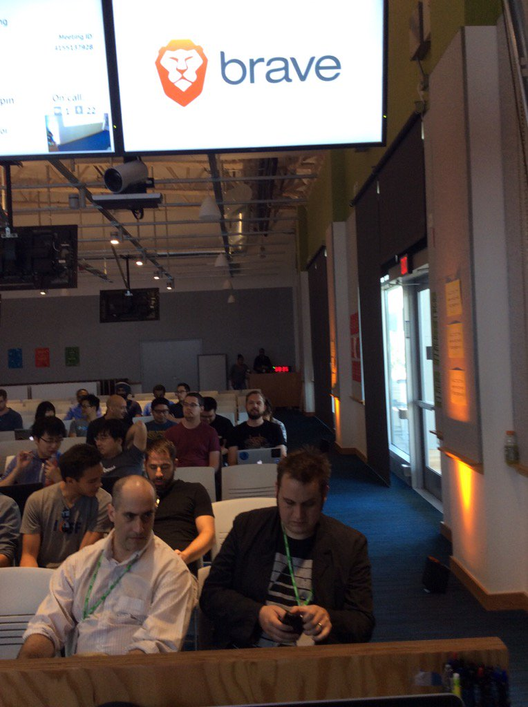 About to give talk at Facebook on @Brave & @AttentionToken - crypto interest high! https://t.co/0EEU1HuxaV