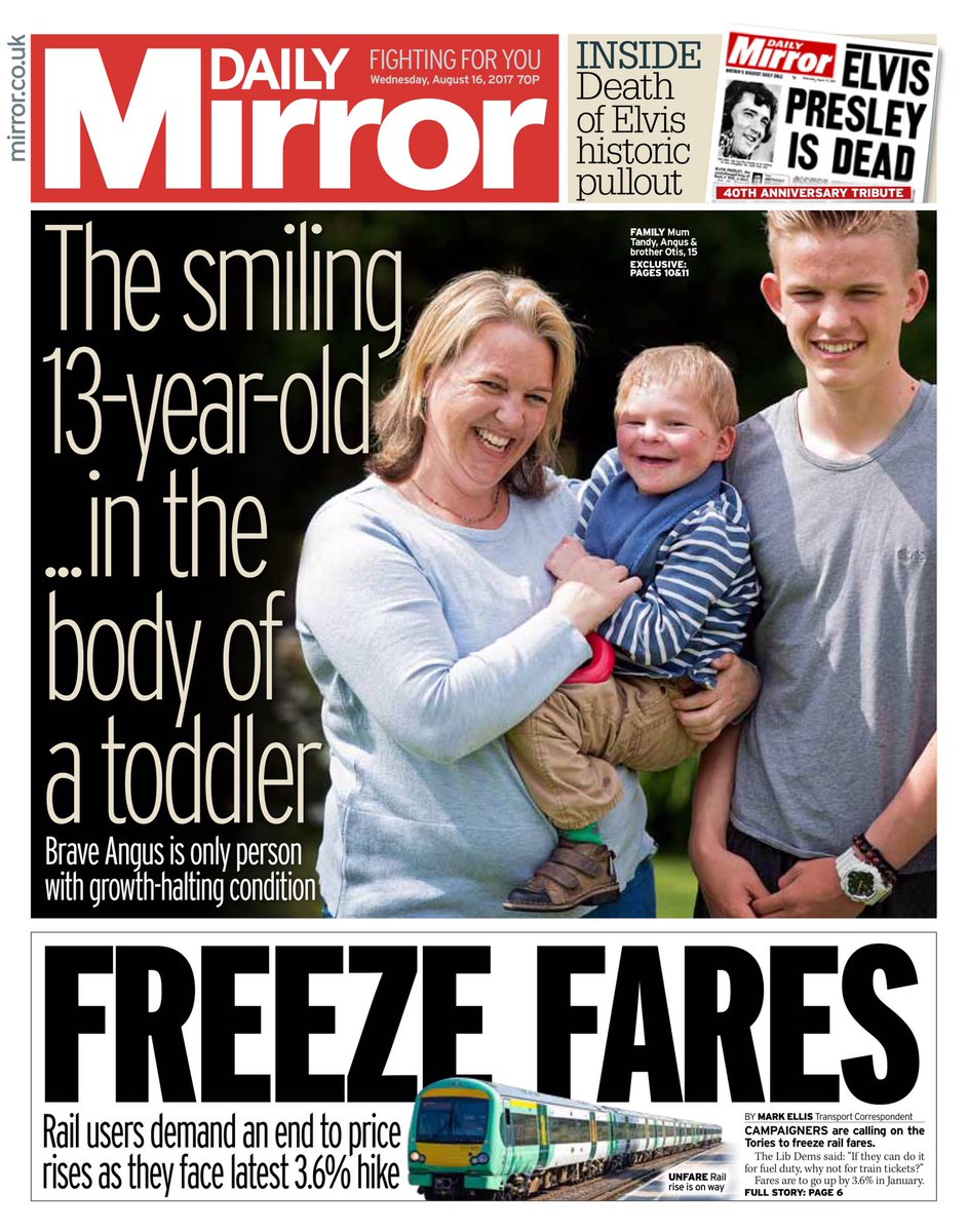 Wednesday's Daily Mirror: 'Freeze Fares' #tomorrowspaperstoday #bbcpapers (via @hendopolis) https://t.co/ig8Q3OL3Dr