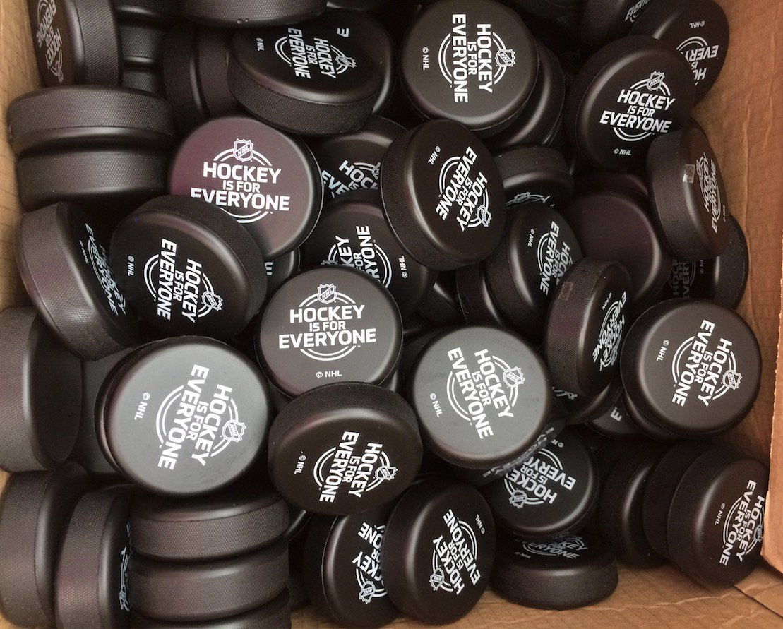 The NHL will officially be represented at Montreal's Pride Parade on Sunday, giving out sponge pucks that say Hockey Is For Everyone