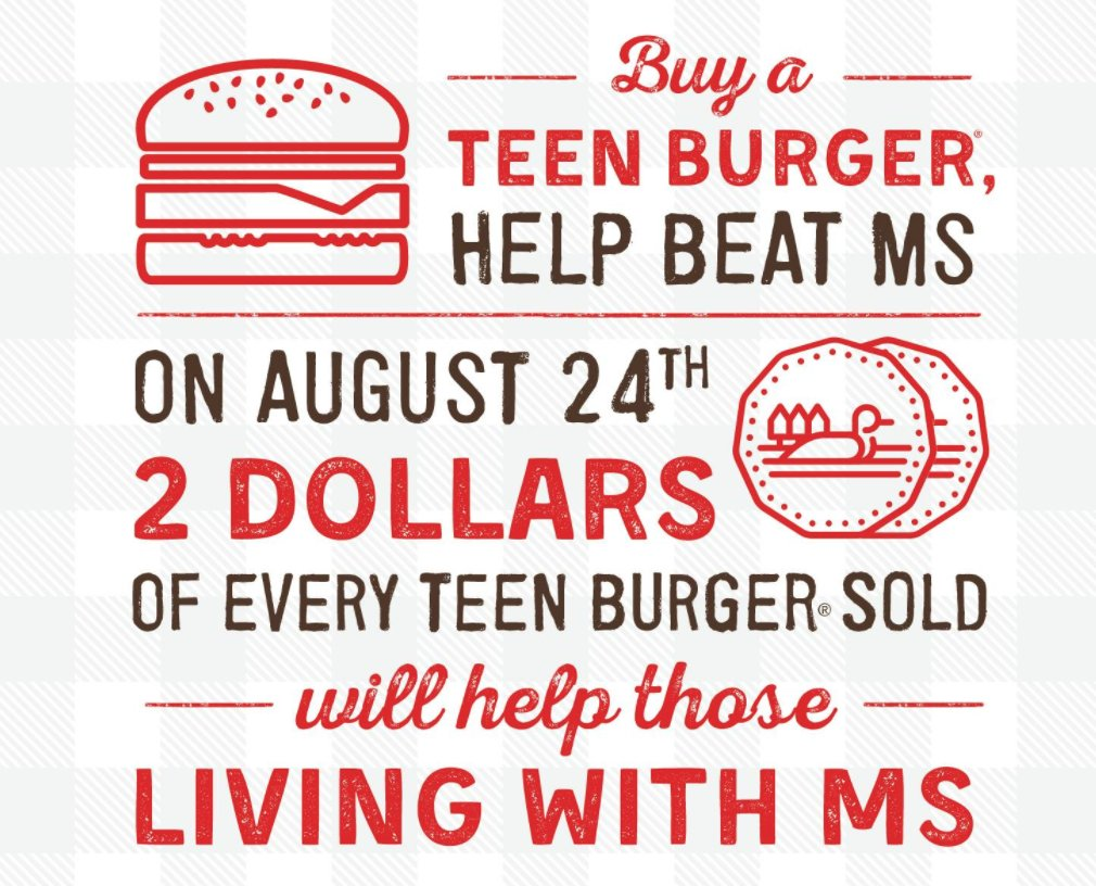 Double up your order this year because A&W is doubling down on their donations! #BurgersToBeatMS https://t.co/4sxwwzmRsx