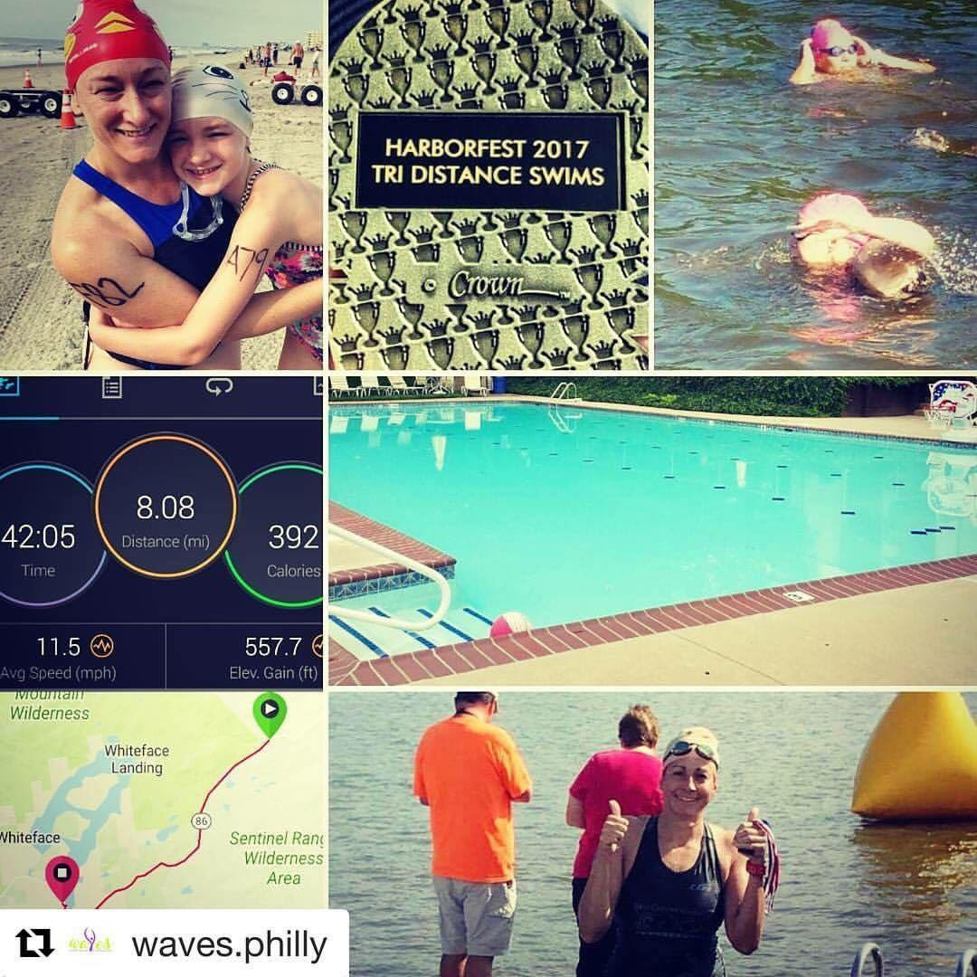 We made a lot of WAVES this weekend  @WavesPhilly  #harborfest2017  #openwaterswimming #natación  #cyclisme #cycling #triathlontraining<br>http://pic.twitter.com/tFw4sQckSG