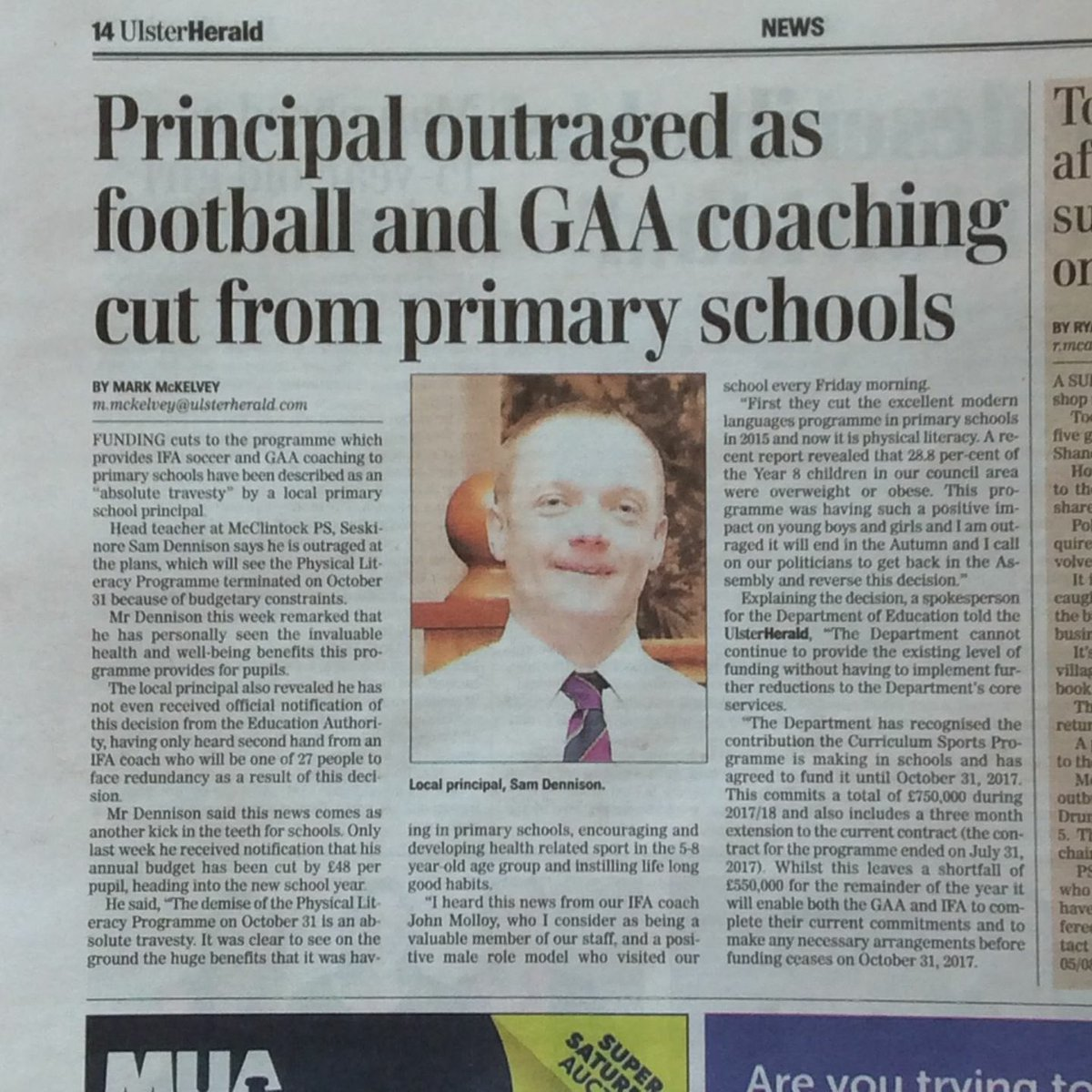 RT! Plz don&#39;t let this program suffer! All @UlsterGAA @OfficialIrishFA #Clubs #Schools #Coaches #Teachers #Parents plz lobby your local #MLA<br>http://pic.twitter.com/oI4p1Uyvpg