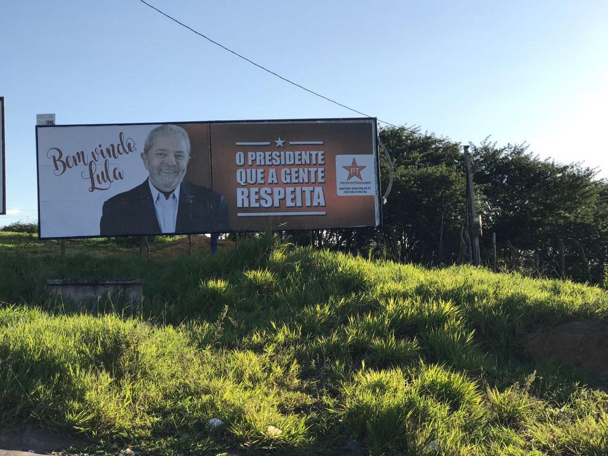 A cidade Cruz das Almas (BA) está esperando o ex-presidente @LulapeloBrasil https://t.co/cX6YxoMyxk