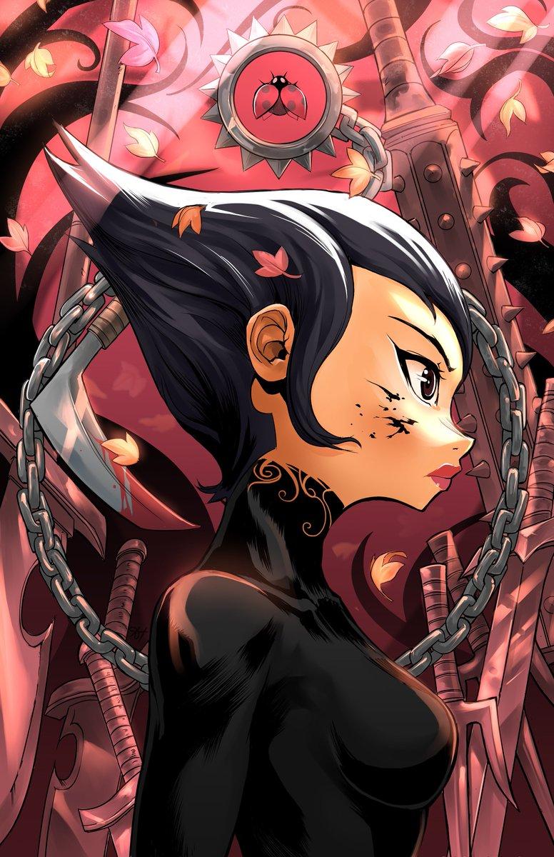Didn&#39;t add this one when I posted my Samurai Jack Akira illustration.  #Ashi #SamuraiJack #Season5 #fanart #Illustration #ladybug #Aku<br>http://pic.twitter.com/Rk93MVuKRS