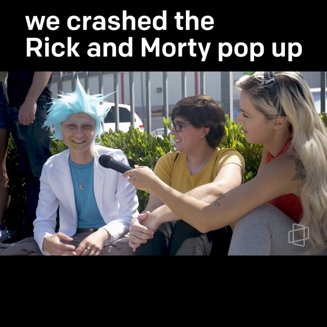 Morty *buurrp* get in Morty, we're crashing the pop up.