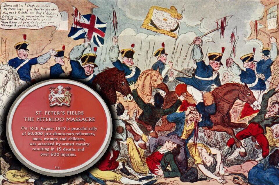 16th August 1819, 198 years on, 15 people killed, over 600 injured, we still remember The Peterloo Massacre #manchester  <br>http://pic.twitter.com/S8QTKToa86