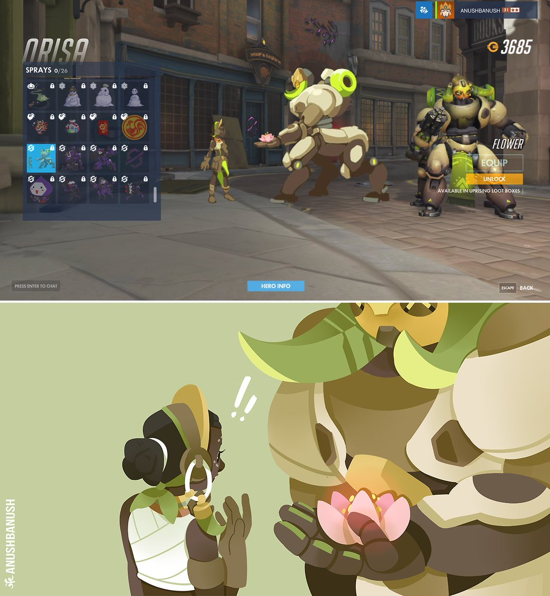 It's the thought that counts  #Overwatch @PlayOverwatch<br>http://pic.twitter.com/pxW9HZPOTa