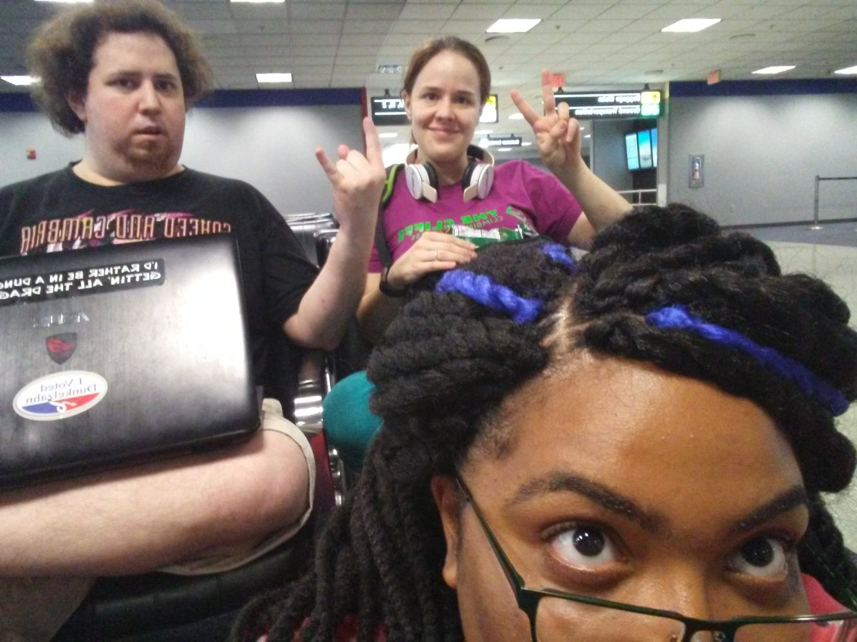 Stuck in Washington for a bit but our excitement will not be smothered! #gencon50 #almostthere #...kinda <br>http://pic.twitter.com/IFD1vMdVn8