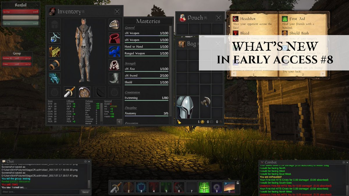 What's New In Early Access #8  https:// buff.ly/2w83Kbr  &nbsp;   #sagaoflucimia #indiegame #indiedev #gamedev #mmorpg #alpha #unity3d<br>http://pic.twitter.com/GEQEDh64Uc