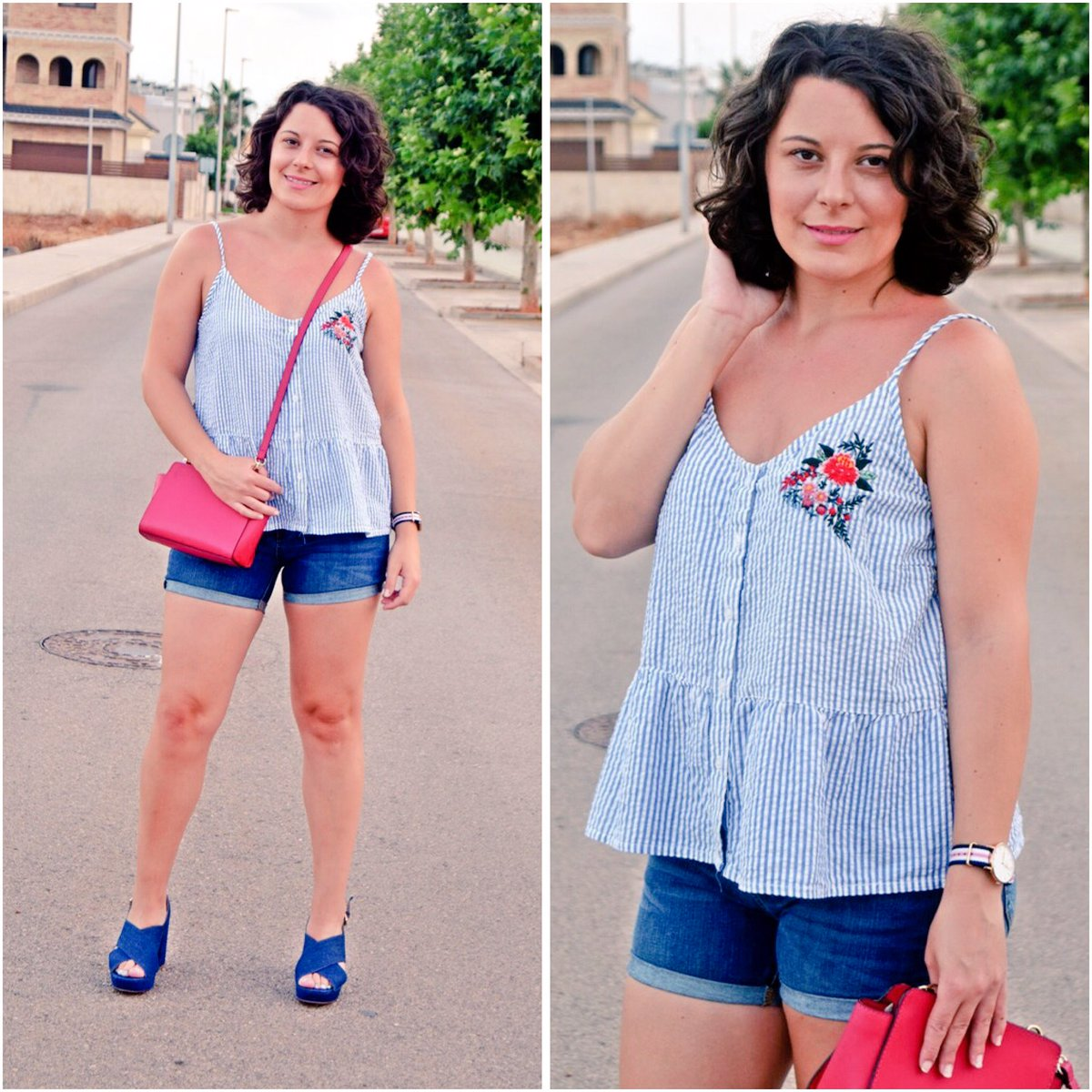 New postLook veraniego con shorts y top de rayas  https:// goo.gl/B3qpGE  &nbsp;   #ootd #lookoftheday #streetstyle #fashionblogger #influencer <br>http://pic.twitter.com/KzqPxSol7C