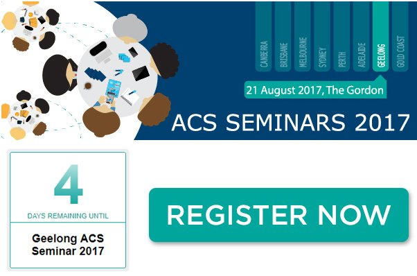 test Twitter Media - Last days to register for the inaugural #ACSSeminars in Geelong! Our first regional event!  Register: https://t.co/JkAqZSFKlR https://t.co/nQXl2b6sy8