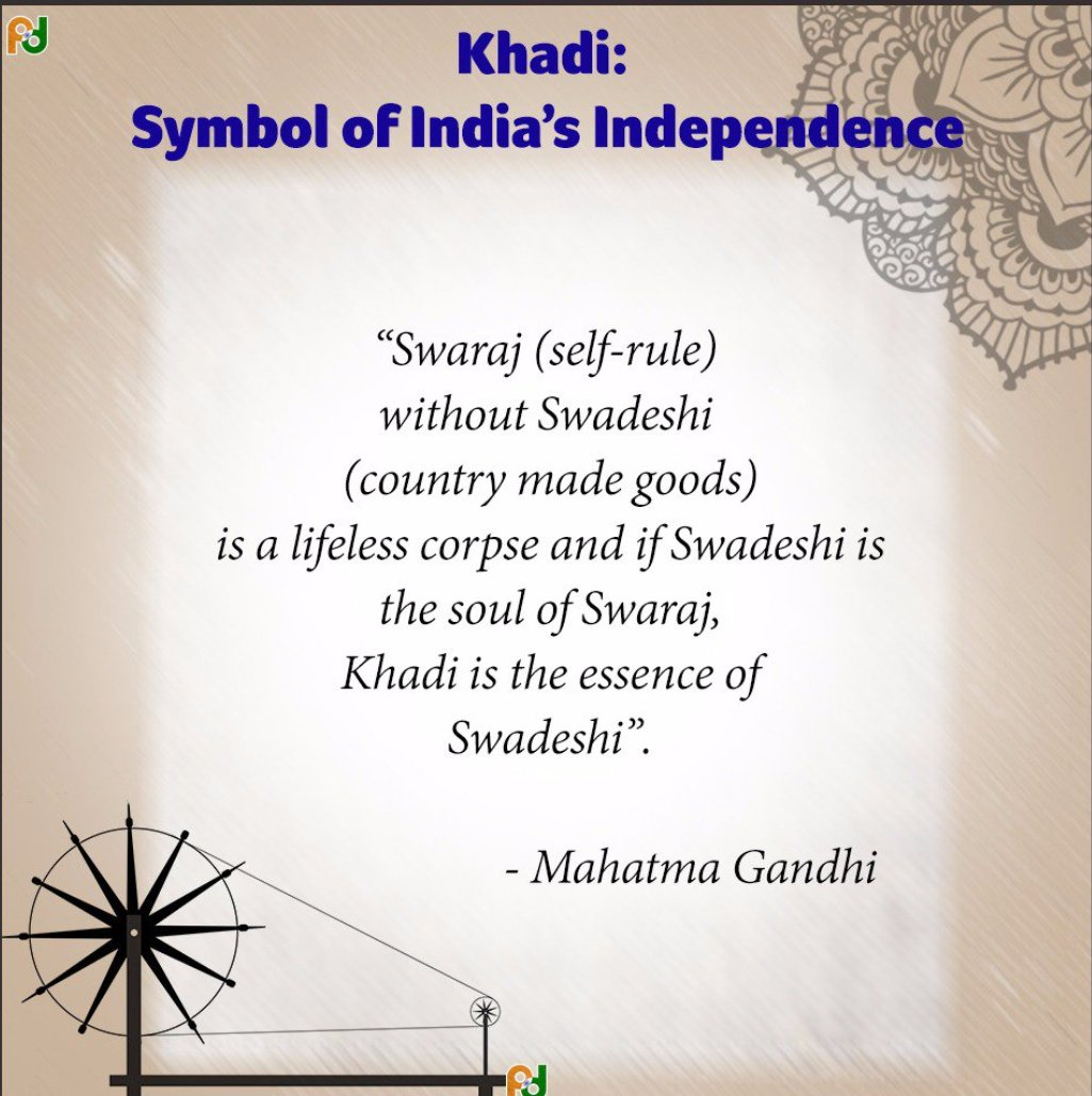 Chairman kvic on twitter khadi symbol of indias independence and 1001 pm 15 aug 2017 buycottarizona Images