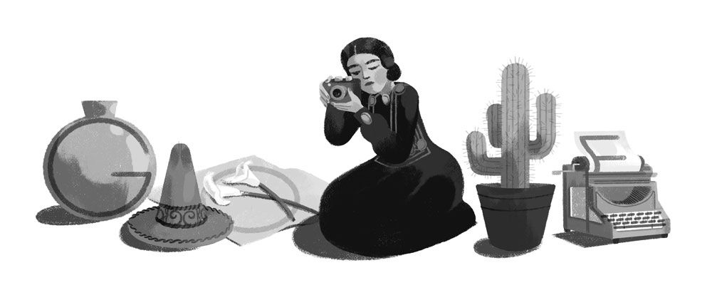 Tina Modotti's 121st Birthday - #GoogleDoodle in  Mexico. #TinaModotti<br>http://pic.twitter.com/1qvkqBFgBm