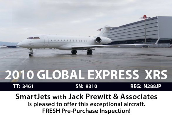 FRESH Pre-Purchase Inspection!2010 Global Express XRS presented by @SmartJets. Go to #aircraftforsale #bizjet #bizav  http:// ow.ly/Dsn630er9lS  &nbsp;  <br>http://pic.twitter.com/OhKQTCYTBS
