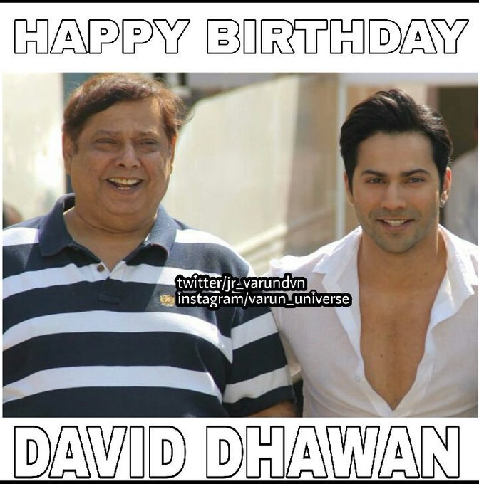 Happy Birthday David Dhawan the real hero of and his small gift is to
