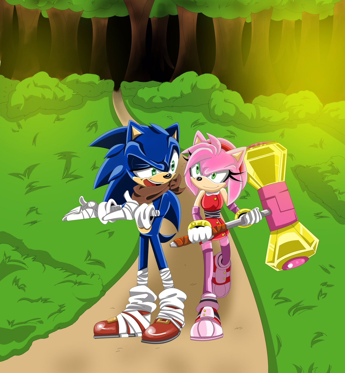 This is old but thought I&#39;d share some #SonAmy boom art for #Sega #SonicTheHedgehog #Sonic #fanart #fandom <br>http://pic.twitter.com/Vg40PyNz9u
