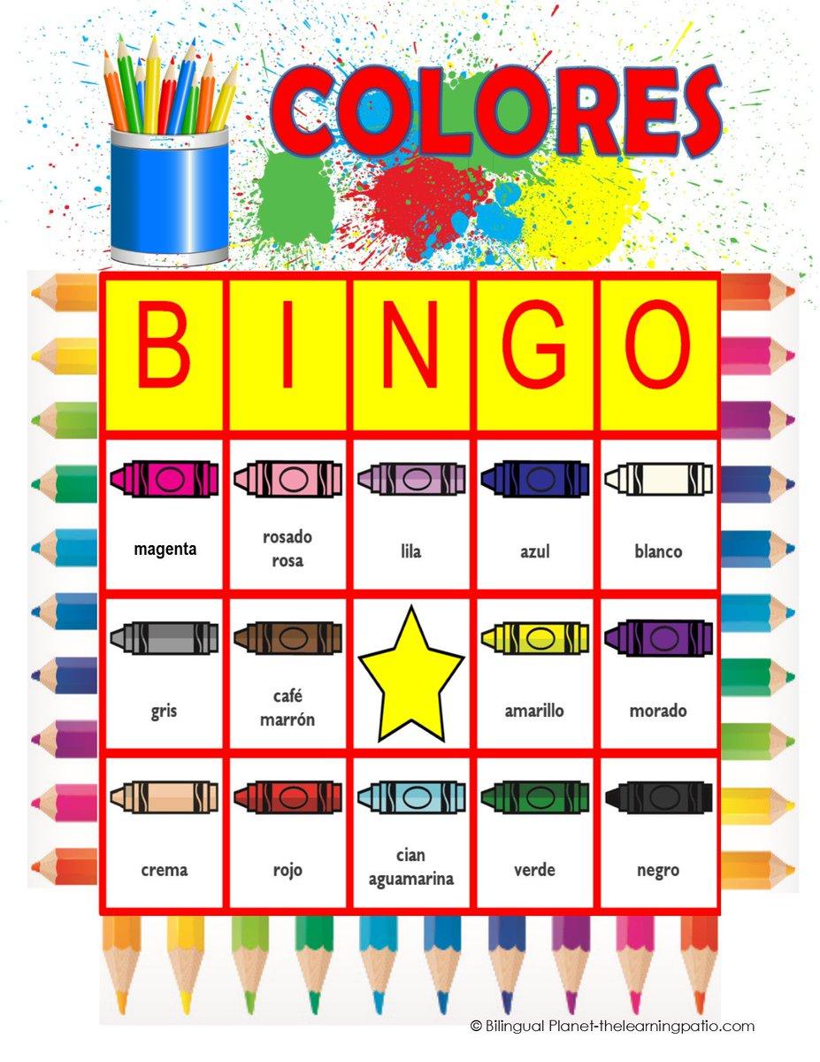 Bilingual Planet On Twitter Color Bingo English Spanish