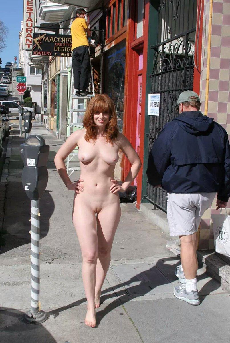Older women exposed nude in public