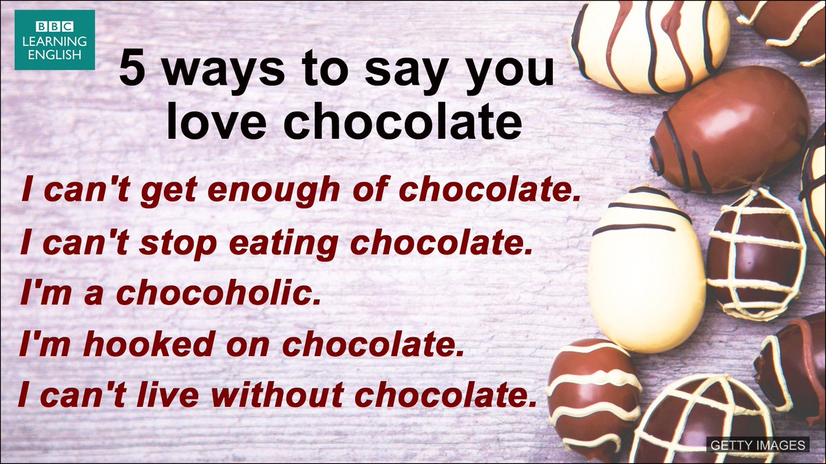 For anyone who loves chocolate so much, they need five ways of saying it!   More:  http:// bbc.in/2uC35yi  &nbsp;     #yum #chocolate <br>http://pic.twitter.com/TYvqjC9iGR