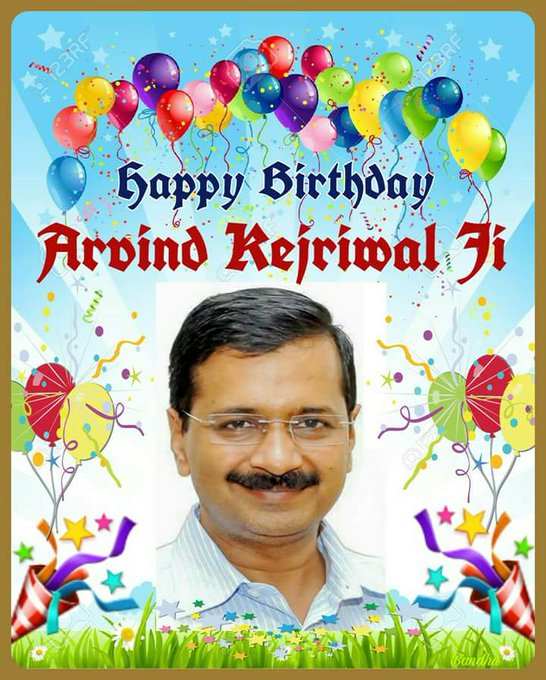 Happy birthday Arvind kejriwal ji  chief Minister of Delhi.