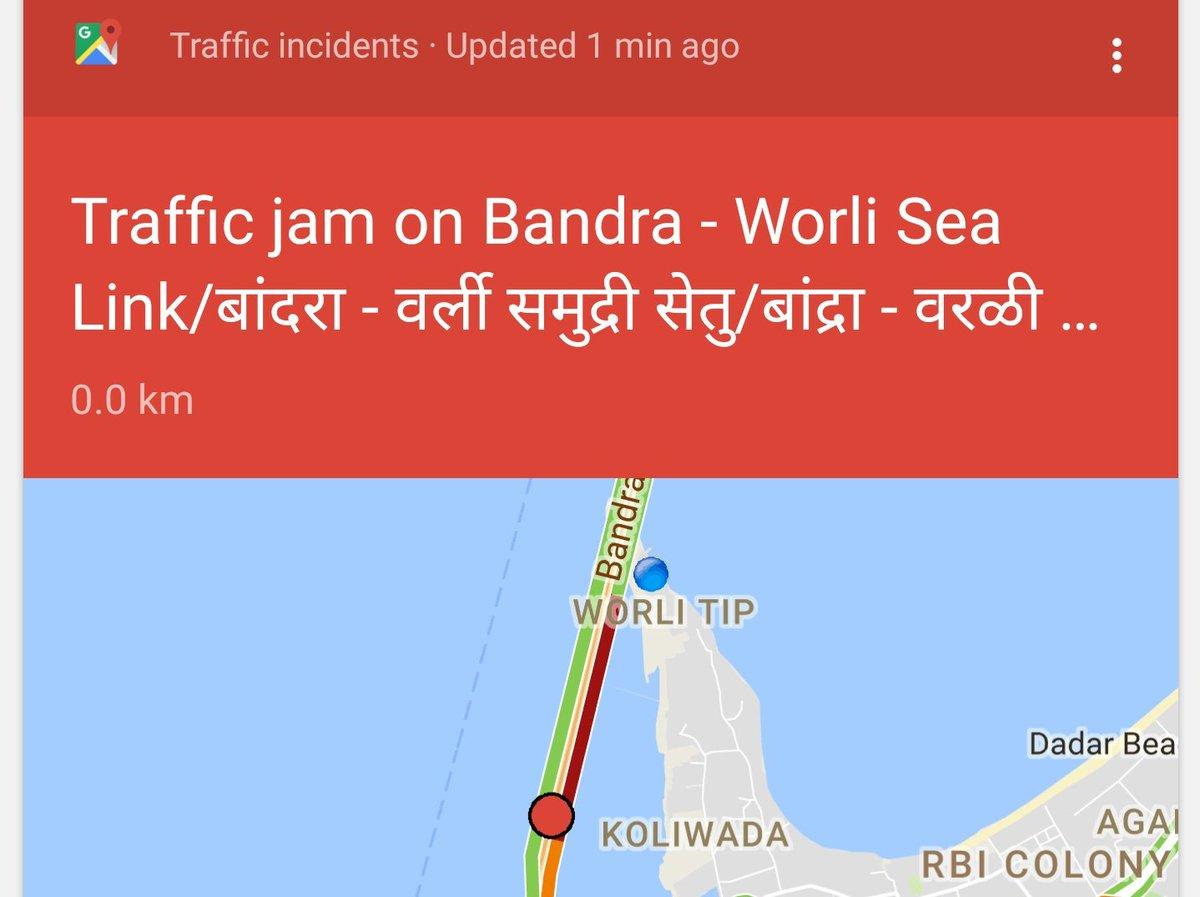 #Google giving traffic updates after I reach sea link...Like thanks!  #GoogleAlerts #GoogleMaps <br>http://pic.twitter.com/9x8Wnj15TP