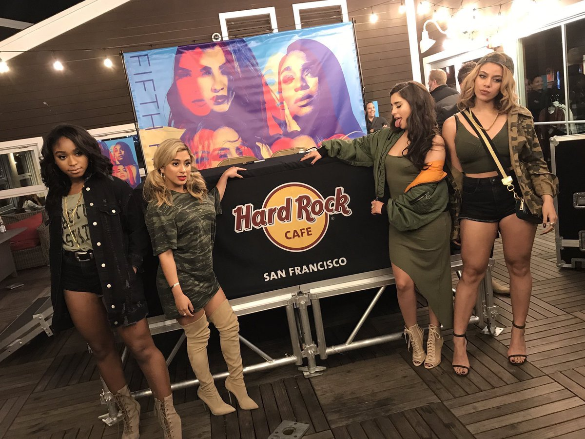 PHOTO • Fifth Harmony at tonight's album...