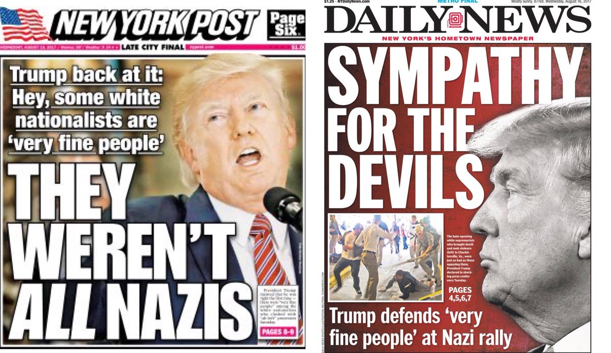 President Trump will awaken in NYC to these papers