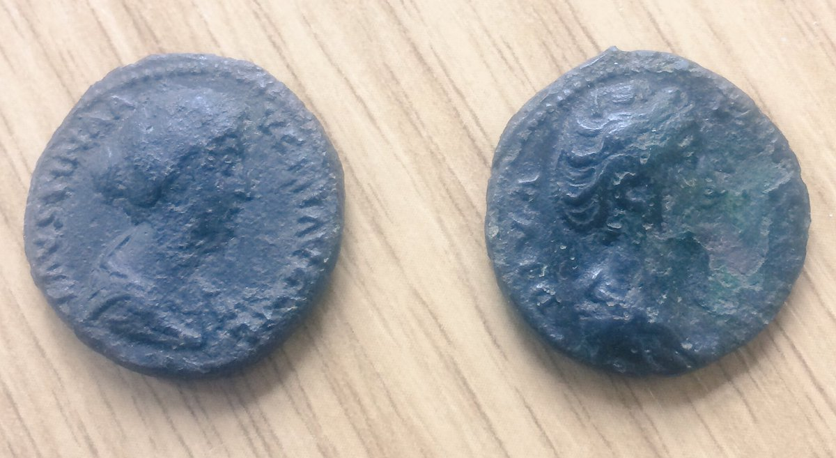 Getting some hairstyle tips from the Faustinas this morning, love learning about #Roman #fashion @findsorguk @BucksMuseum<br>http://pic.twitter.com/kZHiuANmoT