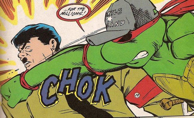 BIM ! Rouge contre Brun ! #NinjaTurtle #Comics #ComicsHateNazis #Dolfi #Moustache <br>http://pic.twitter.com/zZZIgEyO4a
