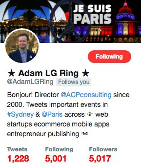 I reached 5,000 authentic #tech and #startup followers! Some of my best followers are saved on this list:  https:// twitter.com/AdamLGRing/lis ts/best-followers/members &nbsp; …  #merci <br>http://pic.twitter.com/x7sRvNfJYl
