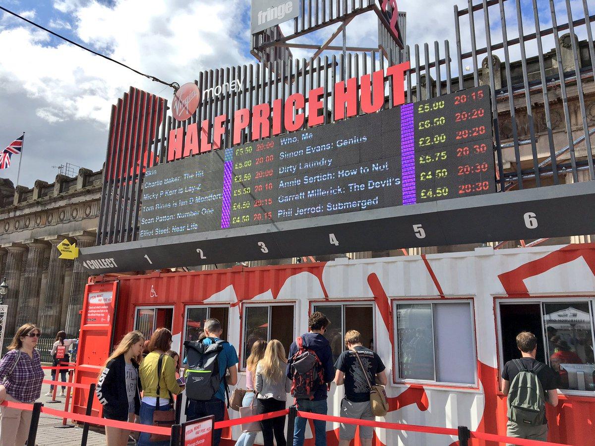 Head To The Virginmoney Half Price Hut Wednesdaywisdom Https Tickets Edfringe Box Office Virgin Money Utm Campaign