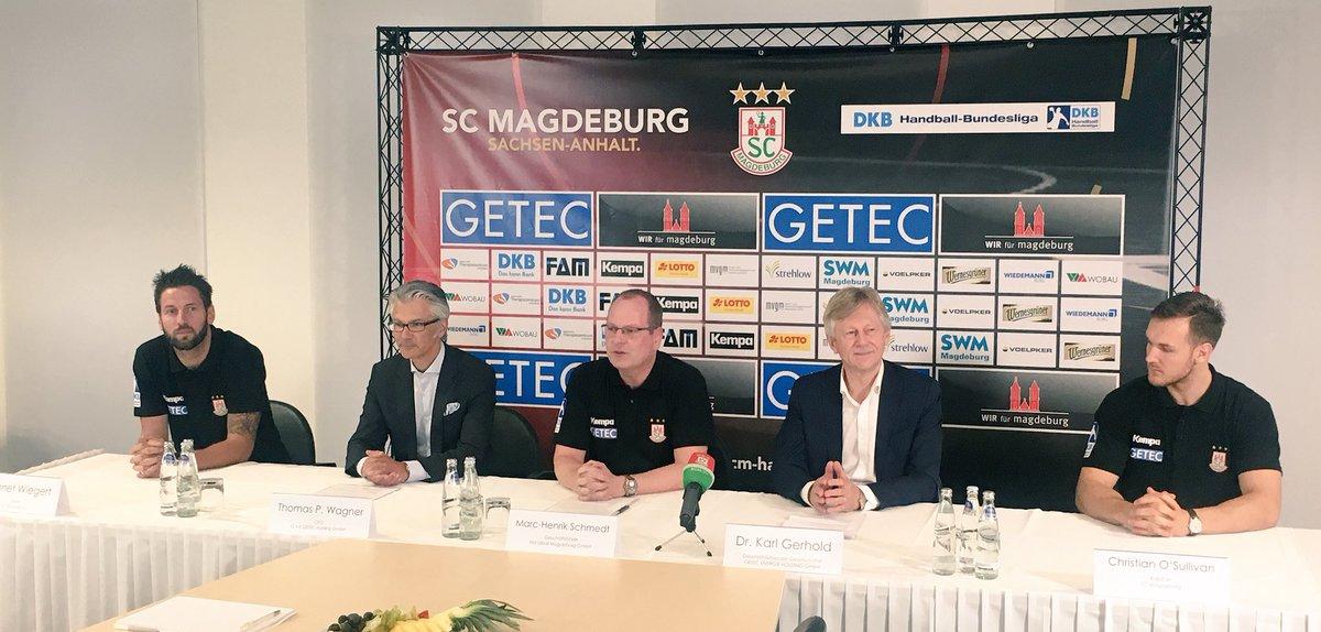 Saisonauftakt-PK bei GETEC.  In der neuen Saison wird GETEC die SCM Handballer wieder intensiv unterstützen https://t.co/UfnoGFH8Wh