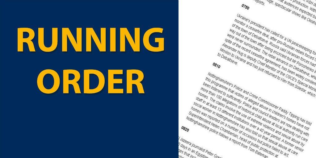 Read the running order and listen live: https://t.co/PtpTN0DK5e #r4today