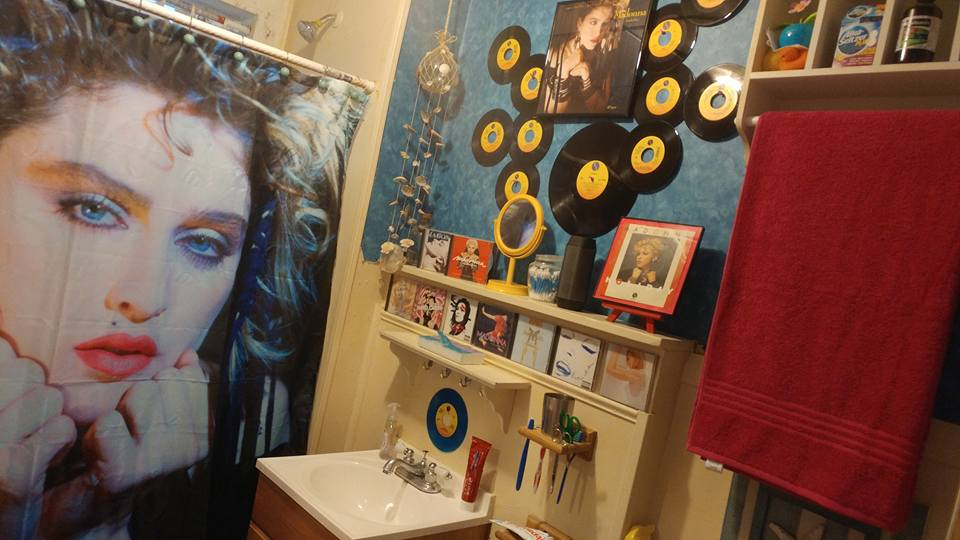Happy Birthday @Madonna . Check out my Old School Madonna Bathroom ! https://t.co/N4rnwZpfXS