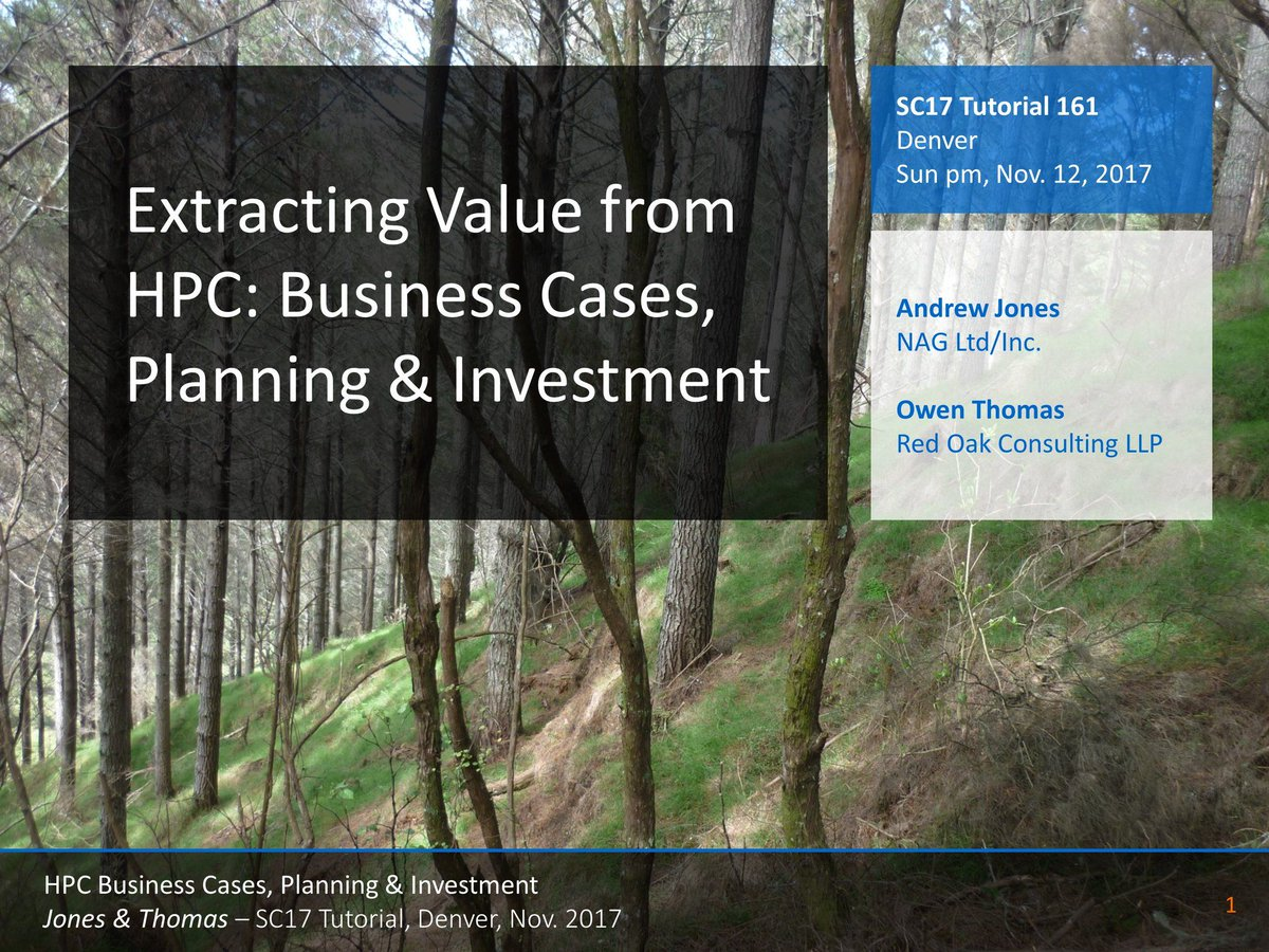 Via @hpcnotes: &quot;Writing slides for #SC17 tutorial on Business Cases for #HPC -  https:// buff.ly/2w6Jd78  &nbsp;   @Supercomputing&quot; #researchimpact <br>http://pic.twitter.com/Czp3GNOmlH