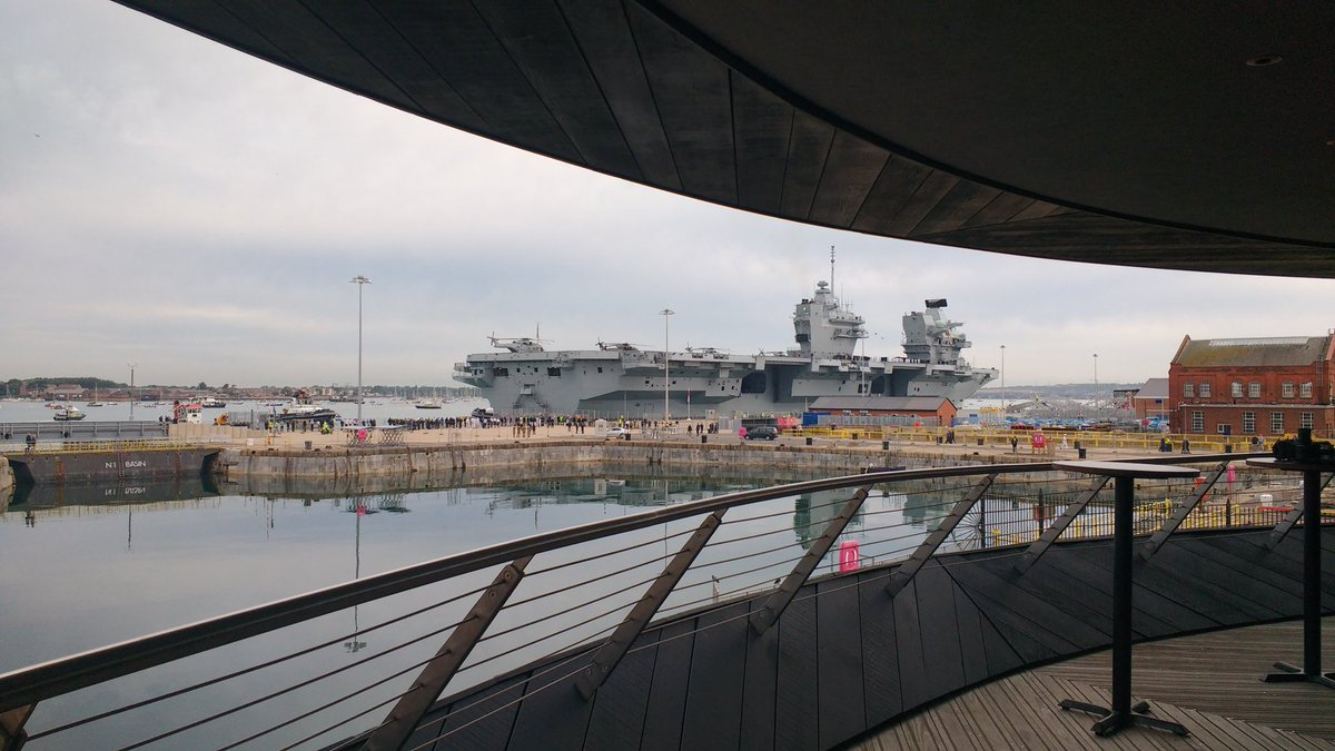 The best view in @PortsmouthProud of @HMSQnlz - exclusively available for #events @MaryRoseMuseum<br>http://pic.twitter.com/IZl7Hl4G58