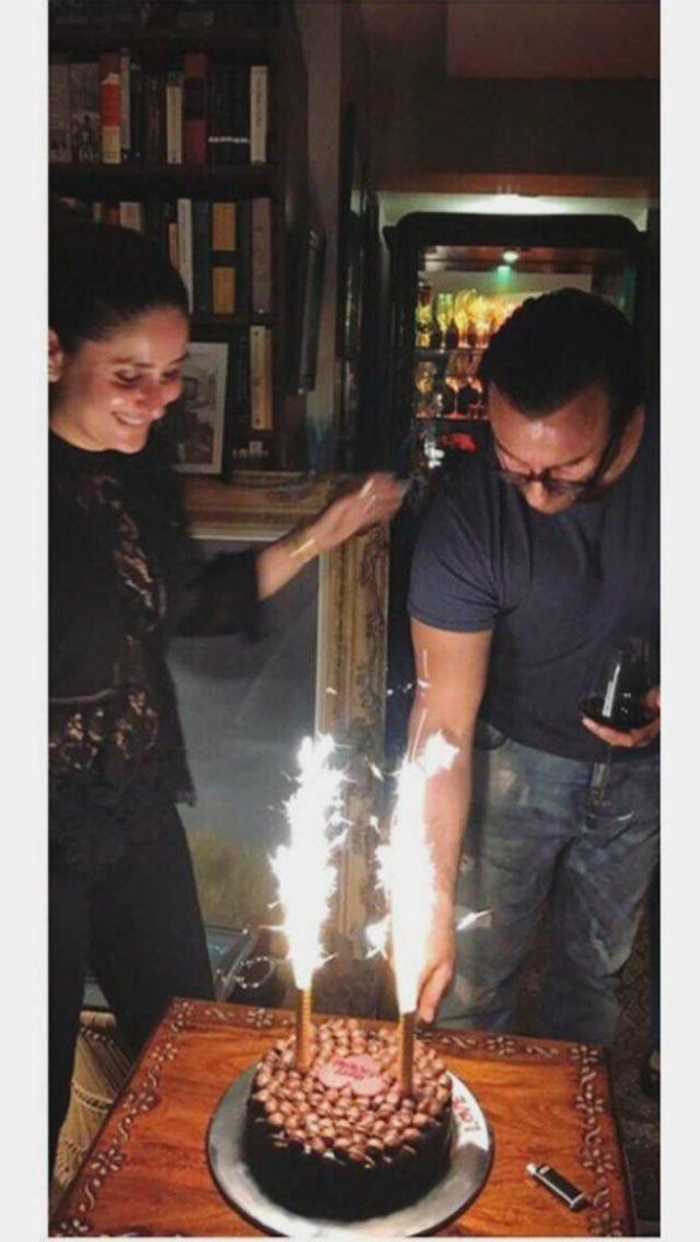 Begum #KareenaKapoorKhan celebrates #Nawab #SaifAliKhan's birthday. ht...
