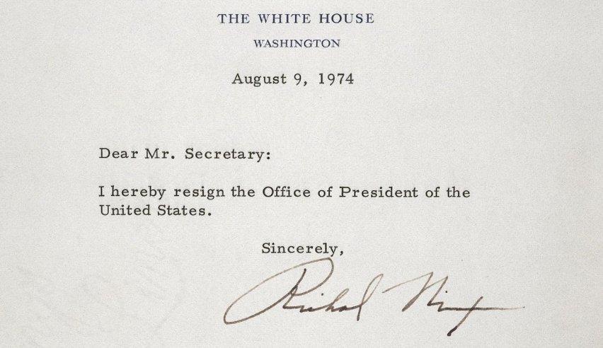 Nixon Letter Of Resignation FileLetter of Resignation of Richard M ...